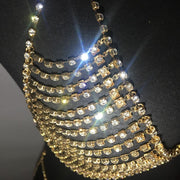 Shiny Rhinestone Multilayer Chest Chain Jewelry Sexy Halter Bra Harness Body Chain Summer Fashion Party Accessories For Women