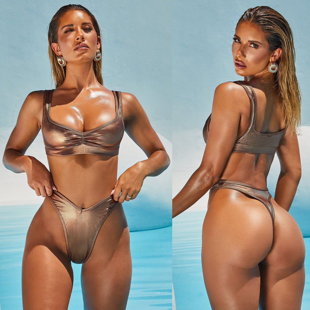 Hirigin Sexy Thong Bikini Women New Swimwear Summer Push Up Padded Bathing Suit Biquini Swimming Suit Brazilian Beachwear