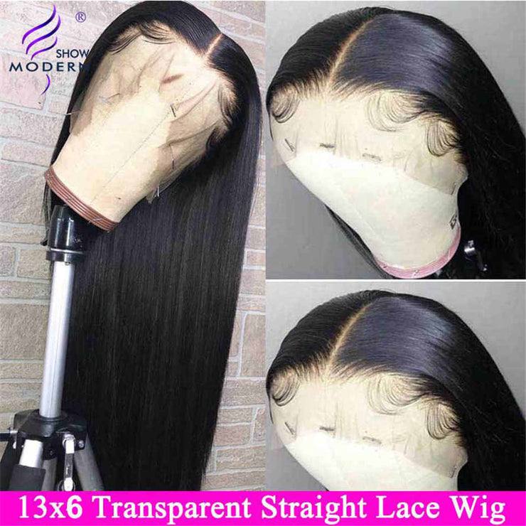Brazilian Wig 13*6 Straight Lace Front Human Hair Wigs For Black Women Remy 13*4 Lace Front Wigs Pre Plucked Modern Show Hair