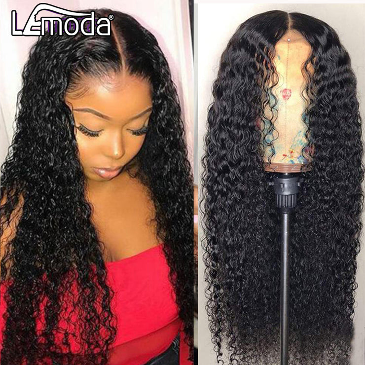 13x6 Transparent HD Lace Wig Curly Human Hair Wig 13X4 Lace Front Wigs Pre Plucked Natural Hairline 4x4 Closure Wig