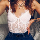 10 Colors Women Sexy Lace Bodysuits New 2019 One Piece Body Suit Bodycon Catsuit Transparent Romper Mujer
