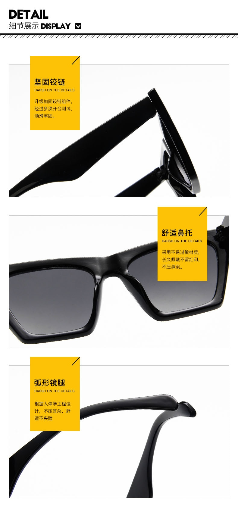 new brand sunglasses Square glasses  Personalized cat eyes Colorful sunglasses trend versatile sunglasses uv400 curtain