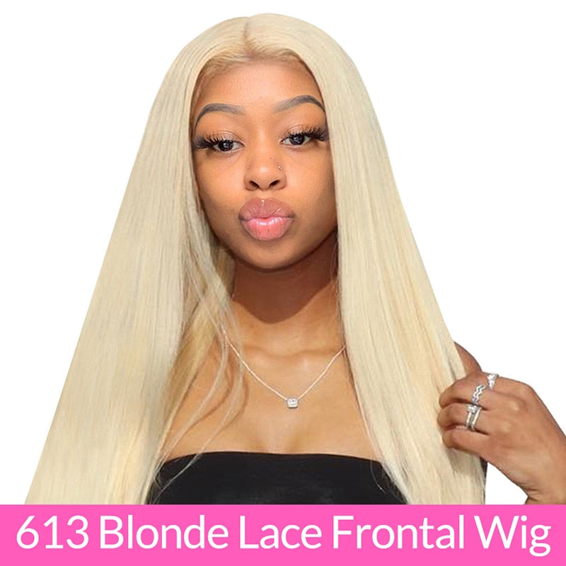 Brazilian Straight 613 Lace Front Wig 150% Density 13x4 ISEE HAIR Straight Honey Blonde Lace Front Human Hair Wigs For Women