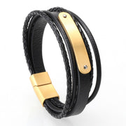 Mcllroy Bracelet men/vintage/retro/braided/genuine leather bracelet homme femme mens bracelets  handmade jewelry pulseras