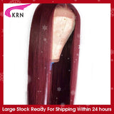 KRN 99J Ombre Pre Plucked 13x4 Lace Frontal Human Hair Wigs With Baby Hair Straight remy Hair Brazilian Lace Wigs 180 density