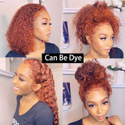Curly 360 Lace Frontal Wig With Baby Hair Deep Wave Bob Transparent 13x6 Lace Front Human Hair Wigs 370 Fake Scalp Full Dolago