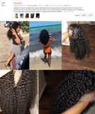 Kinky Curly Bob Lace Front Human Hair Wigs Brazilian Kinky Curly Human Hair Wig For Women150 180 Density perruque cheveux humain