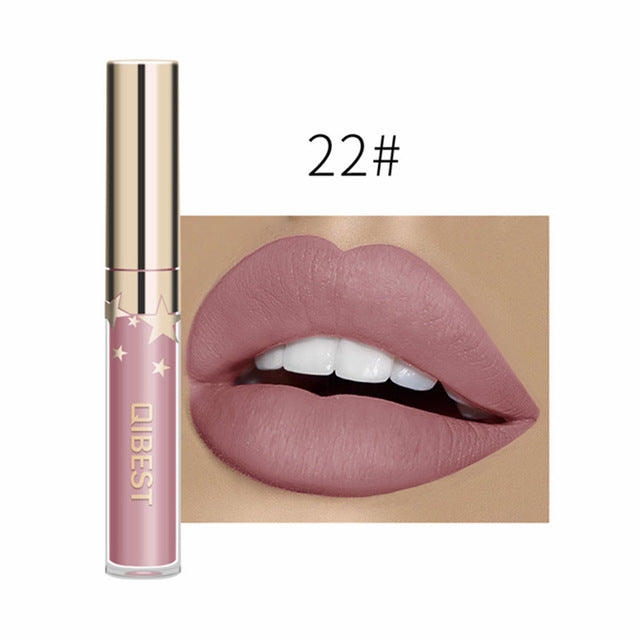 24 Color Lipsticks Matte Waterproof Red Lip Gloss Mate Makeup Long Lasting Nude Brown Women Lips Liquid Lipstick Lippenstift