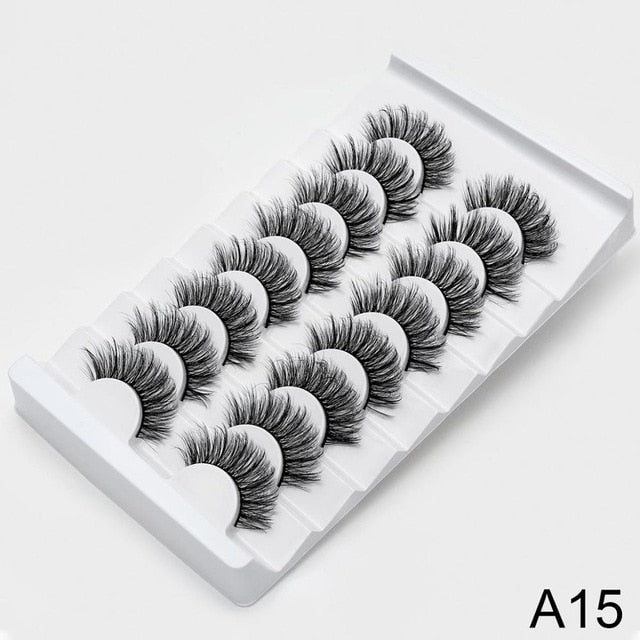 SEXYSHEEP 4/8 pairs 3D Mink Lashes Natural False Eyelashes Dramatic Volume Fake Lashes Makeup Eyelash Extension Silk Eyelashes
