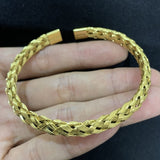 Luxury Roman Number Charm Woven Stainless Steel Bracelet Hip Hop Men Jewelry Gold Color Jewelry For  Men Pulseira Bileklik