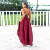 Sexy Prom Dresses Sequined Asymmetrical Deep V-Neck Spaghetti Straps Backless Sparkle Evening Party Gowns Vestidos De Gala