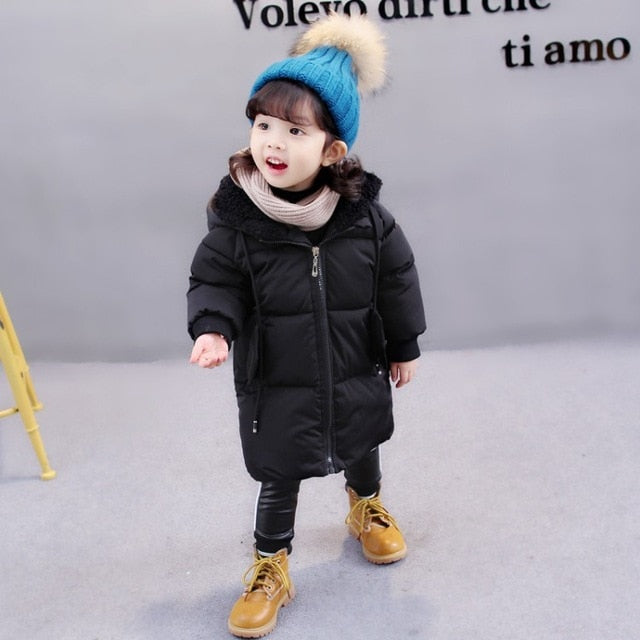 1-7Yrs Winter Girls Hooded Jackets Clothin Kids Boys Coat Warm Autumn Children Outerwear&Coats Casual Baby Girls Clothes Outfits