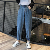 Women  Mom Jeans Harem Jeans Casual Denim Pants Boyfriends Jeans Femme Trousers Ripped Jeans Vintage Retro