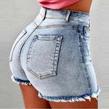 Shorts Women Jean Denim Short Straight Women High Waist Tassel Summer Shorts Femme Push Up Skinny Slim Denim Short