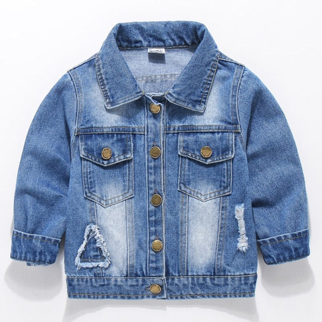 Baby Boys Denim Jacket Autumn Winter Jackets For Boys Coat Kids Outerwear Coats For Girls Jacket Children Clothes 2-7 Years