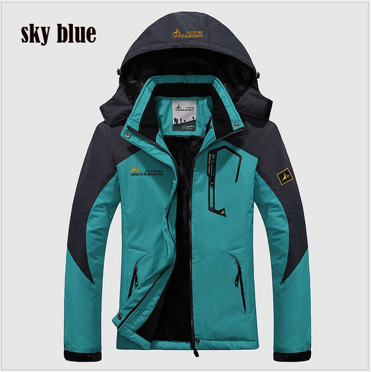 Winter Parka Men Windbreak Plus Velvet Thick Warm Windproof Fur Coats Male Military Hooded Anorak Jackets Men's Winter Jackets