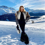 FURSARCAR  New Luxury Real Fur Coat Winter Women Natural Fox Fur Short Jacket Slim Fashion Fur Coat For Female Party Outwear