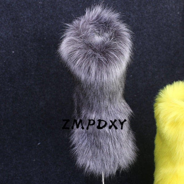 Ladies Fuzzy Fluffy Cotton Shoes Women&
