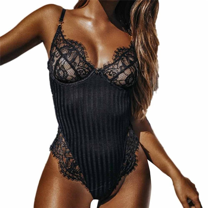 Women Sexy Lingerie Nightwear Underwear G String Lace Sling Sleepwear Teddies Bodysuits