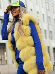 23 colors Women Real fox fur vogue vests genuine fur gilet jackets perfect shopping outfit abrigo mujer customize plus size