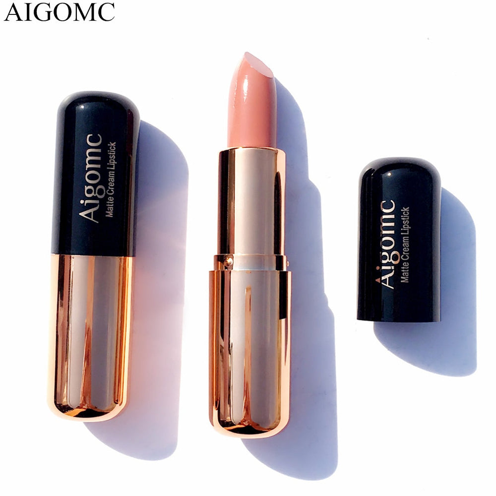 AIGOMC Luxury Color Lipstick Nude Velvet Matte Lip Stick Long-lasting Moisturizer Batom Sexy Pigments Women Beauty Cosmetics