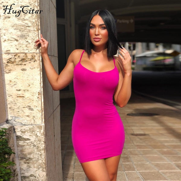 cotton spaghetti straps slash neck high waist sexy dresses 2018 autumn winter women fashion solid club dress