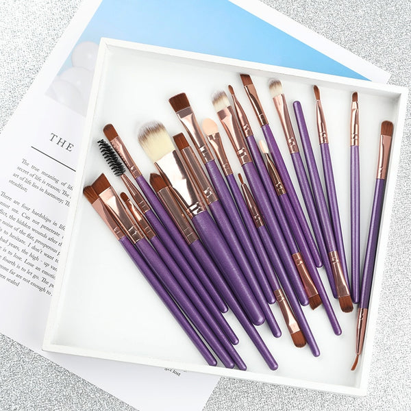 20Pcs Professional Makeup Brushes Set Powder Foundation Eyeshadow Make Up Brushes Cosmetics Soft Synthetic Hair