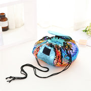Sequins design Cosmetic Bag Drawstring Makeup Case Women Travel Make Up Organizer Storage Pouch Toiletry Wash Kit