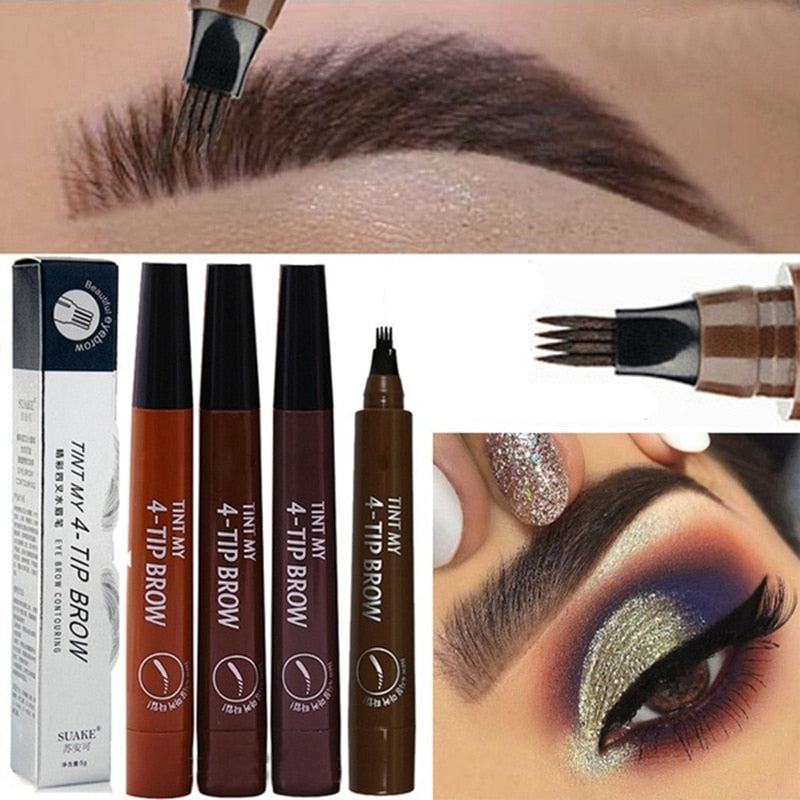 Microblading Eyebrow Pen Waterproof Fork Tip Eyebrow Tattoo Pencil Long Lasting Professional Fine Sketch Liquid Eye Brow Pencil