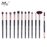 Pro Makeup Brushes Set 12 pcs/lot Eye Shadow Blending Eyeliner Eyelash Eyebrow Brushes For Make up Portable Eye Brush Set