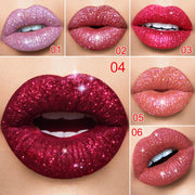 Glitter Lips Make Up Liquid Lipstick Waterproof Long Lasting Shimmer Red Lip Pink Women Lipsticks