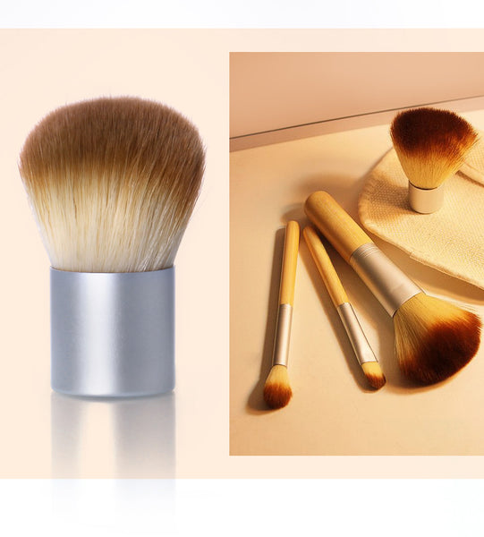 4PCS/LOT Bamboo Brush Foundation Brush Make-up Brushes Cosmetic Face Powder Brush For Makeup Beauty Tool