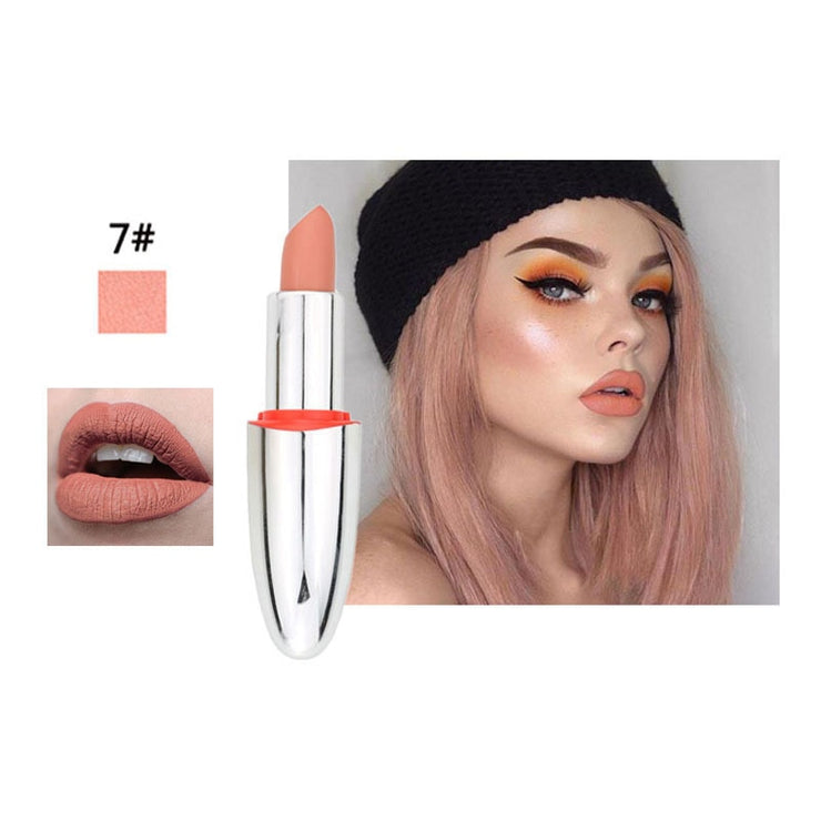 14 Color Matte Lipstick Lips Make Up Waterproof Velvet Lip Stick Shimmer Nude Brown Lips Makeup Matt Long Lasting Lipsticks
