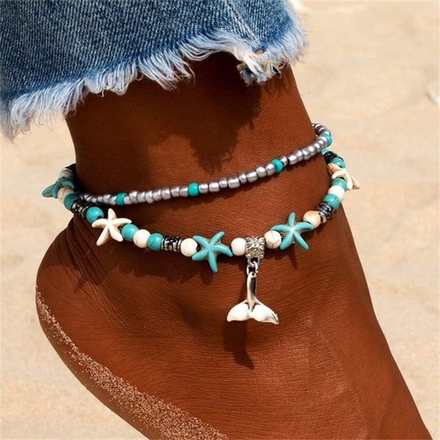 Chain Pineapple Pendant Anklet Beaded 2018 Summer Beach Foot Jewelry Fashion Style Anklets for Women