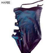 Hollow Sexy Swimwear Multi-buckle One Piece Swimsuit Cut Out Bandage Swimwear Women Monokini maillot de bain