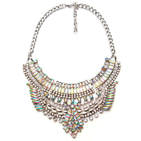Ztech Big Necklace Women Statement Necklaces & Pendants Collier Boho Fashion Choker Crystal Collar Accessories 5 colors