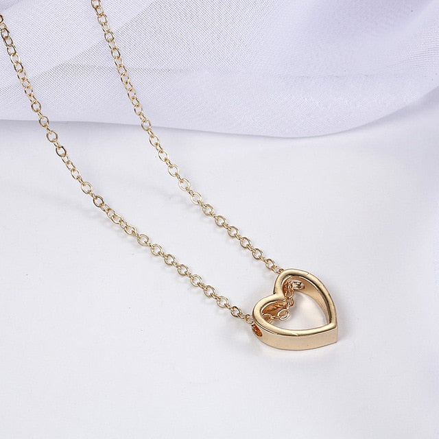 Fashion Alloy Women's Necklaces & Pendants choker necklace gold color crystal pendant necklace for women Gift wholesale