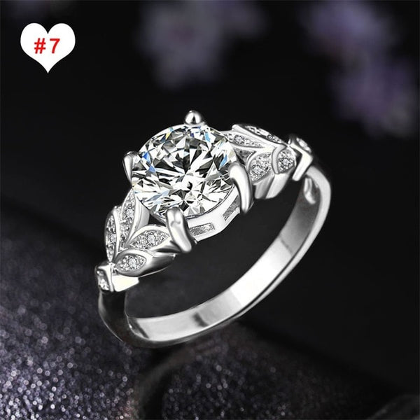 Bohemian Rings Set For Women Retro Crystal Flower Knuckle Ring Statement Female Jewelry Gift Wholesale