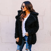 Women Thicken Winter Fluffy Faux Fur Coat Female Casual Jacket Warm Cardigan Outwear Streetwear Femme Mujer Plus Size
