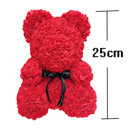 VIP Price Drop Shipping 25cm Red Teddy Bear Rose Flower Artificial Christmas Gifts for Women Valentine&