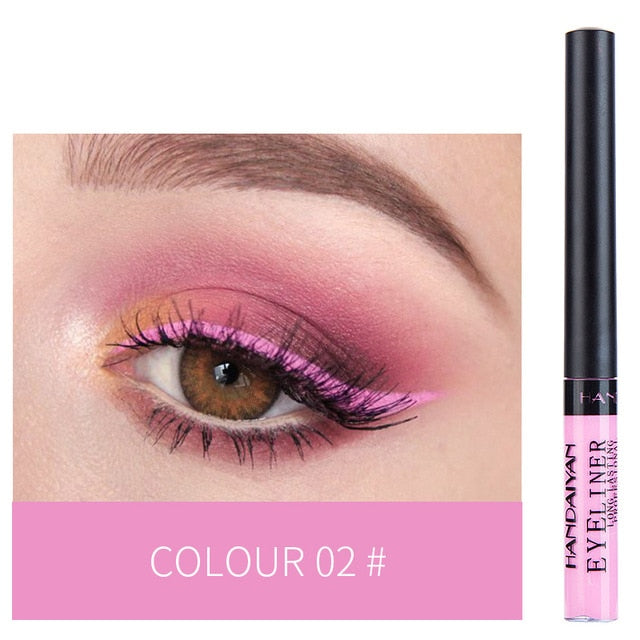 New Liquid Matte Eyeliner Make Up Waterproof Easywear Colorful Eye Liner Pen Professional Festival Eyeliner