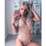 Women Sexy Lingerie Bodysuits Sexy Tight Lace One-piece Underwear Solid Color Bodysuits Plus Size S-2XL