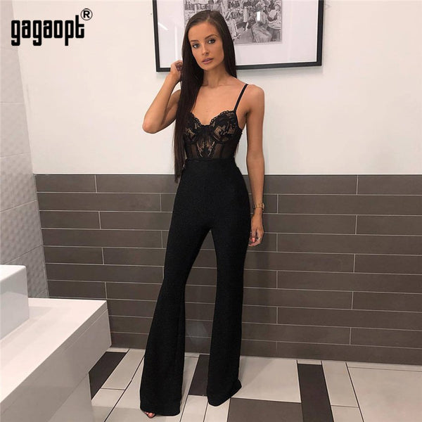 Floral Embroidery Lace Bodysuit Women Fashion Sexy Bodysuit Skinny Mesh Bodysuit Overalls Nightwear
