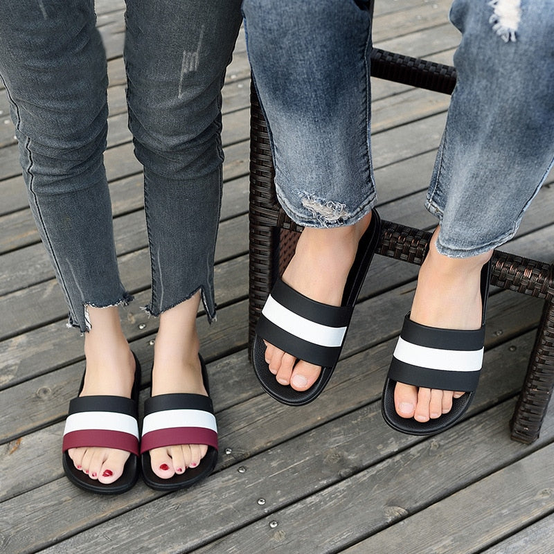 Summer Women Flip Flops High Quality Beach Sandals Non-slide Female Slippers Zapatos Hombre Casual Shoes Men