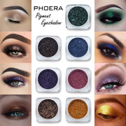 Glitter Eyeshadow Powder Women 12 Colors Diamond Lips Loose Eyes Highly Pigment Shimmering Metallic Cosmetic Professional