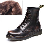 Boots Women Genuine Leather Shoes For Winter Boots Shoes Woman Casual Spring Genuine Leather Botas Mujer Female Ankle Boots