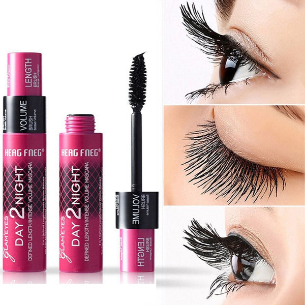 Eye Lashes Curling Extension 2 in 1 Mascara 3D Eyelashes Make Up Dual Eyelash Waterproof  Mascara Makeup Beauty Tool