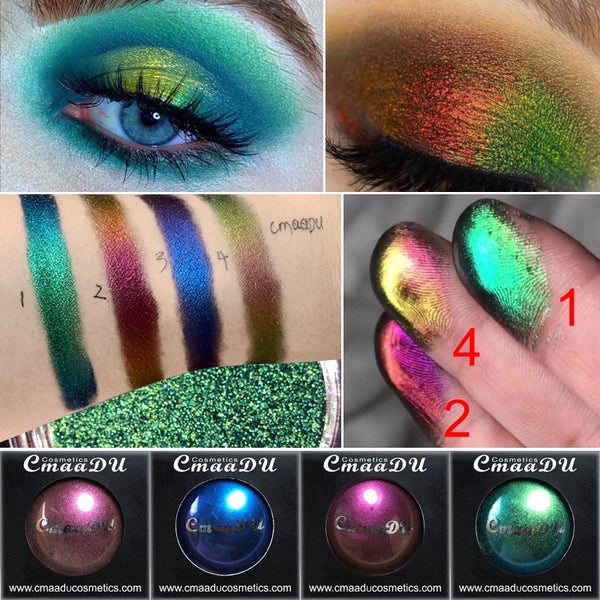 Chameleon Waterproof Light Changing Glitter Eye shadow Palette of Shadows Shimmer Bling Diamond Metallic Matte Eyeshadow