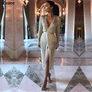 long sleeve gold glitter dress mesh ladies dresses womens clothing club party ladies fashionable dresses clothes mesh