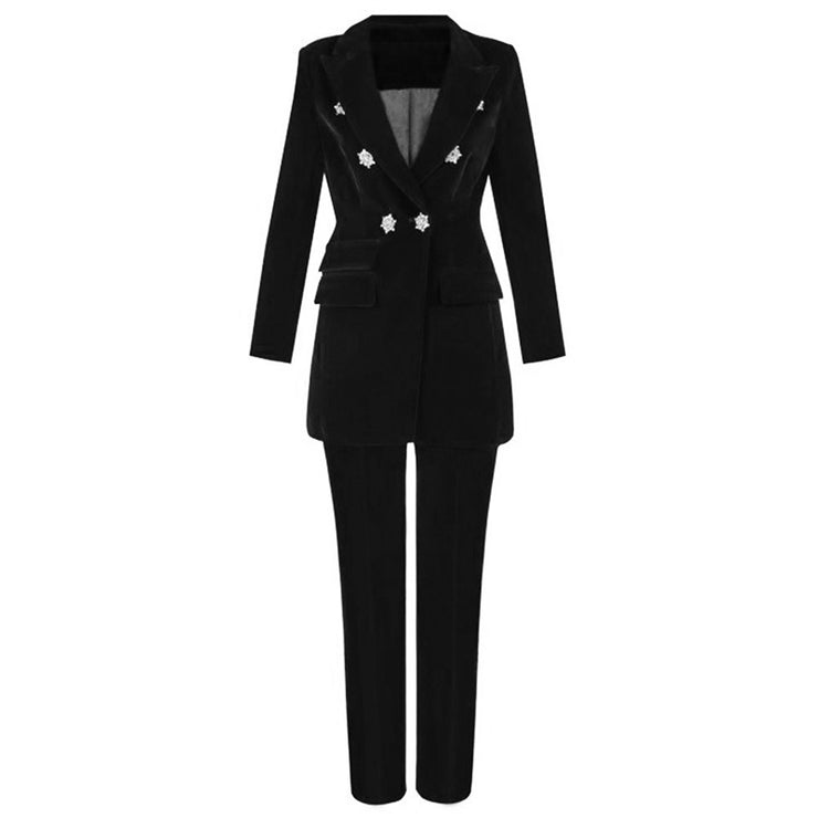 Summer Sets for Women New Black V Neck Long Sleeve Sexy 2 Piece Set Outfits High Quality Two Piece Set Suit